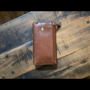 Coach Bags - Coach chestnut leather wallet